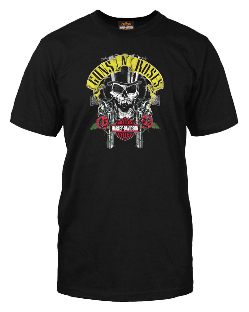 baeb15e3de0 Harley-Davidson Men s Guns N  Roses Rage Top Hat Skull Short Sleeve T-.  Click to enlarge
