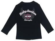 Harley-Davidson Baby Girls' Biker Babe Tee & Doo Rag Newborn Starter Kit 2503717 - Wisconsin Harley-Davidson