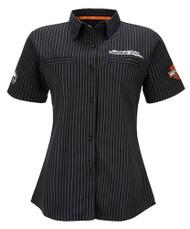 Harley-Davidson Women's Screamin' Eagle Frontrunner Crew Shirt, Black HARLLW0012 - Wisconsin Harley-Davidson