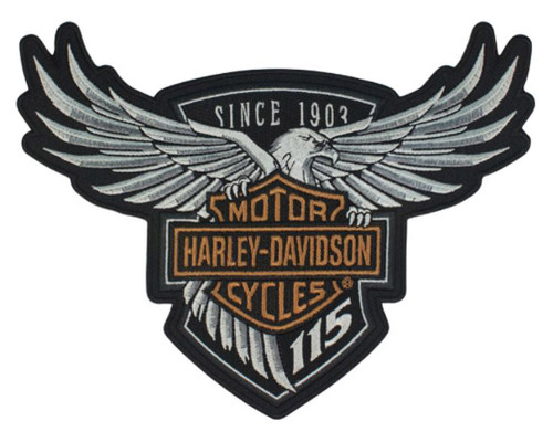 Harley-Davidson 115th Anniversary Eagle Emblem Patch Large 8 x 6 Limited Edition - Wisconsin Harley-Davidson