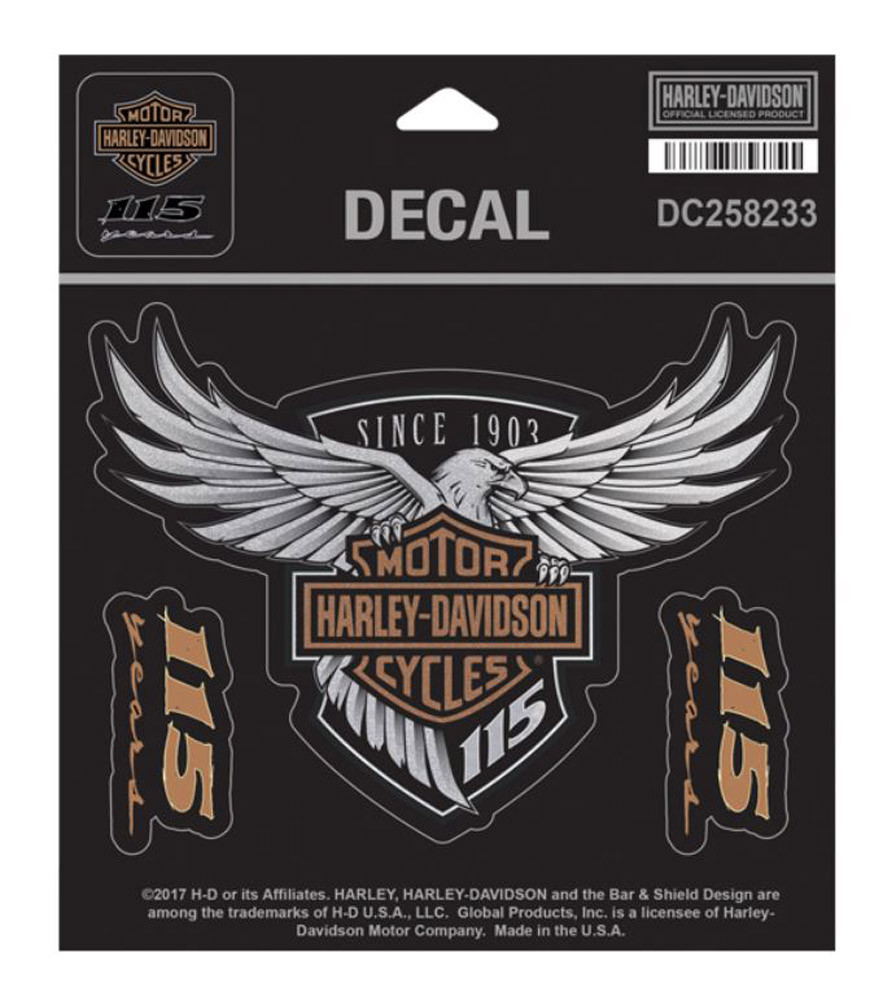 Harley Davidson 115th Anniversary Eagle Decal Medium 525 X 4 Limited Edition