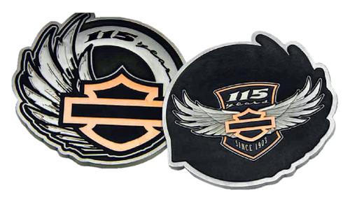 Harley-Davidson 115th Anniversary Collectors Medallion & Leather Box Set 8008352 - Wisconsin Harley-Davidson