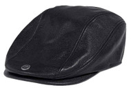 Harley-Davidson Men's 115th Anniversary Leather Ivy Cap, Black 99417-18VM - Wisconsin Harley-Davidson