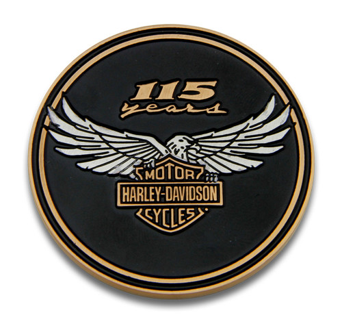 Harley-Davidson 115th Anniversary Collectors Challenge Coin, Limited Edition - Wisconsin Harley-Davidson