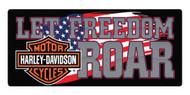 Harley-Davidson Freedom Roar B&S Embossed Tin Sign, 18 x 8 inches 2010791 - Wisconsin Harley-Davidson