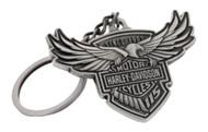 Harley-Davidson 115th Anniversary Key Chain Custom Shaped, Silver HDKD115 - Wisconsin Harley-Davidson