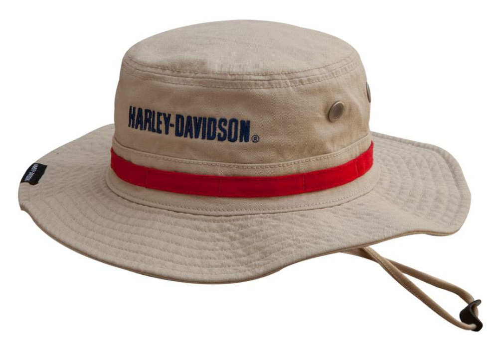 7b42ad3c2a854 Harley-Davidson® Men s Embroidered  1 Boonie Cotton Twill Hat