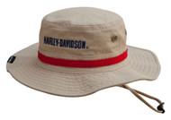 Harley-Davidson Men's Embroidered #1 Boonie Cotton Twill Hat, Khaki HD-477 - Wisconsin Harley-Davidson