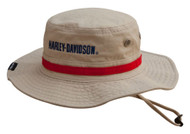 Harley-Davidson Men's Embroidered #1 Boonie Cotton Twill Hat, Khaki HD-477 - Wisconsin Harley-Davidson