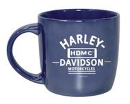 Harley-Davidson Blue City Lustre Ceramic Coffee Cup, Blue 14 oz. 3CLM4925 - Wisconsin Harley-Davidson