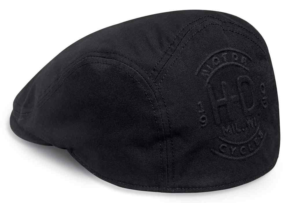 a343923d0 Harley-Davidson® Men's Tonal Embossed H-D Fitted Ivy Cap, Black 97687-18VM