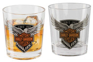 Harley-Davidson 115th Anniversary Double Old Fashioned Set, 12 oz. HDX-98701 - Wisconsin Harley-Davidson
