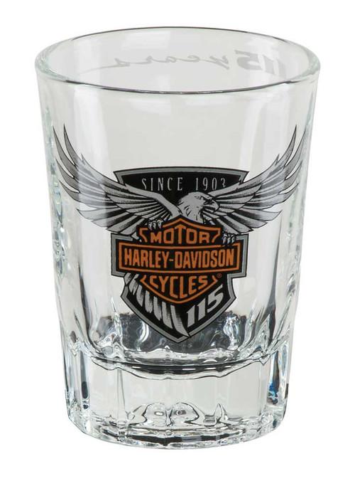 Harley-Davidson 115th Anniversary Limited Edition Shot Glass, 2 oz. HDX-98703 - Wisconsin Harley-Davidson