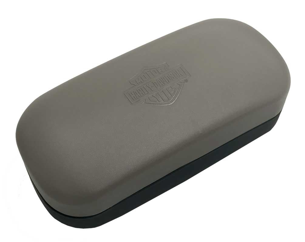 5b65c807ffc Harley-Davidson Hard Sunglasses Case Two-Tone Black   Gray w  Microfiber  Cloth