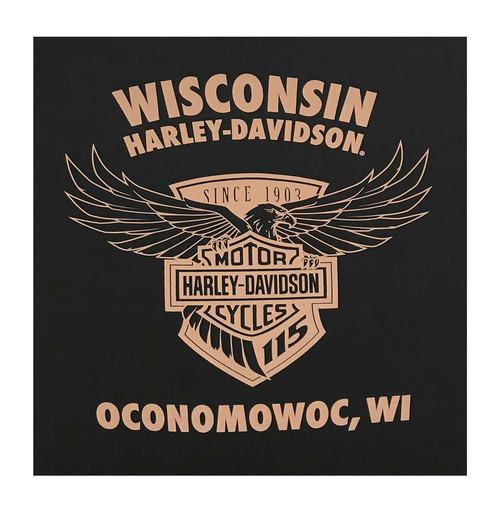 Harley-Davidson Men's 115th Anniversary Testimonial Sleeveless Muscle Tee, Black - Wisconsin Harley-Davidson