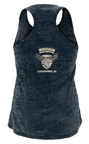 Harley-Davidson Women's 115th Anniversary Beyond Glory Burnout Tank Top, Black - Wisconsin Harley-Davidson