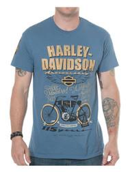 Harley-Davidson Men's 115th Anniversary Model One Short Sleeve T-Shirt, Blue - Wisconsin Harley-Davidson