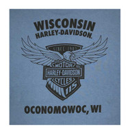 Harley-Davidson Men's 115th Anniversary Model One Short Sleeve T-Shirt, Blue - Wisconsin Harley-Davidson