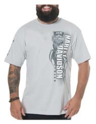 Harley-Davidson Men's 115th Anniversary Tenacity Short Sleeve T-Shirt, Silver - Wisconsin Harley-Davidson