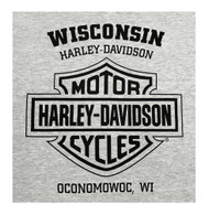 Harley-Davidson Men's Diamond Knucklehead Sleeveless Muscle Tee, Heather Gray - Wisconsin Harley-Davidson