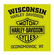 Harley-Davidson Men's Alliance Chest Pocket Long Sleeve T-Shirt, Safety Green - Wisconsin Harley-Davidson