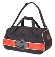 Harley-Davidson Classic Bar & Shield Sports Duffel Bag w/ Strap 99418 RUST/BLACK - Wisconsin Harley-Davidson