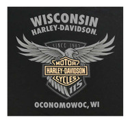 Harley-Davidson Men's 115th Anniversary Shield Chest Pocket Short Sleeve T-Shirt - Wisconsin Harley-Davidson