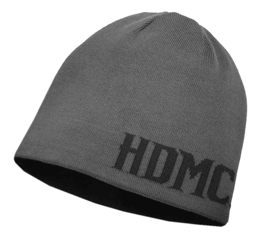0a2e7c581 Harley-Davidson® Men's Reversible HDMC Knit Beanie Hat, Black / Gray  97701-18VM