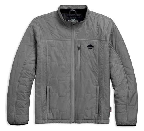 Harley-Davidson Men's Packable 3M Thinsulate Insulation Jacket, Gray 97442-18VM - Wisconsin Harley-Davidson