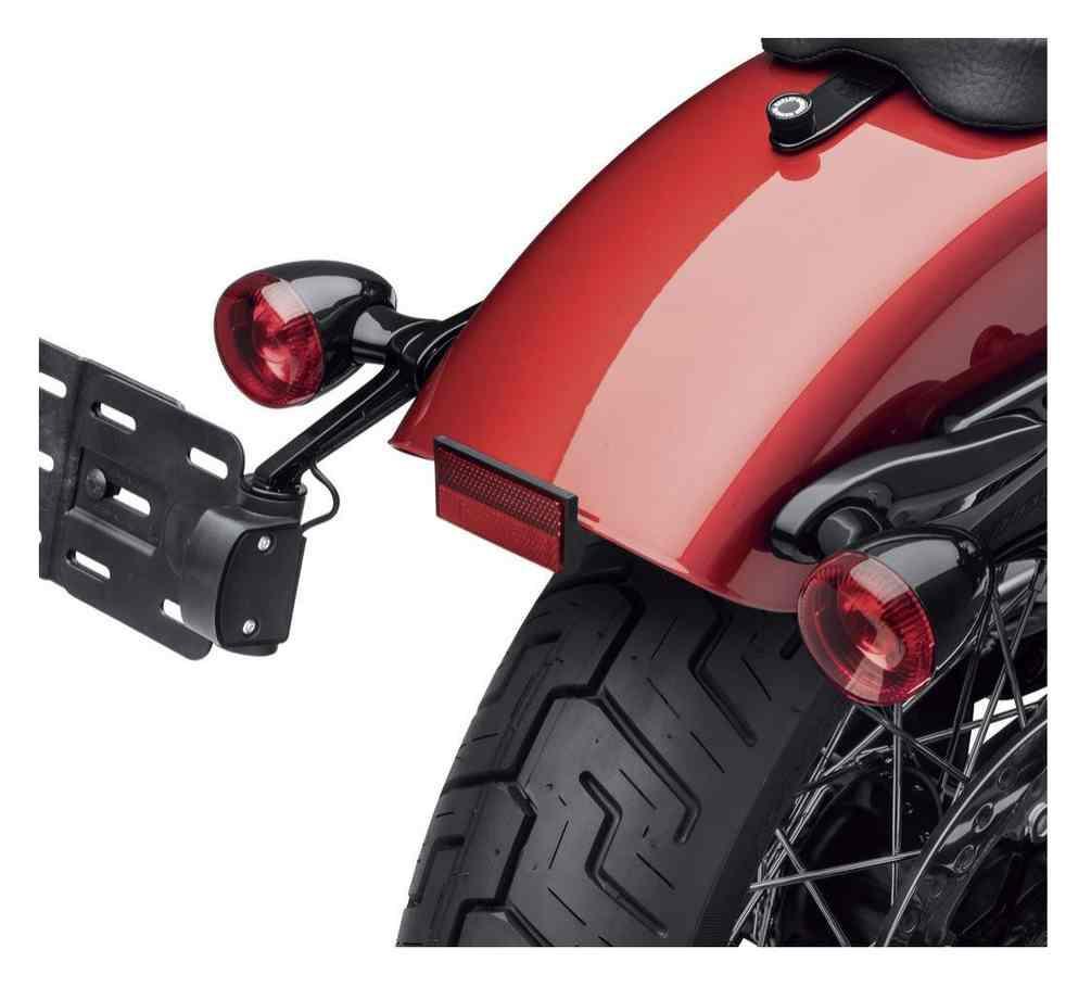 Harley-Davidson® Rear Turn Signal/License Plate Relocation Kit, Black  67800830
