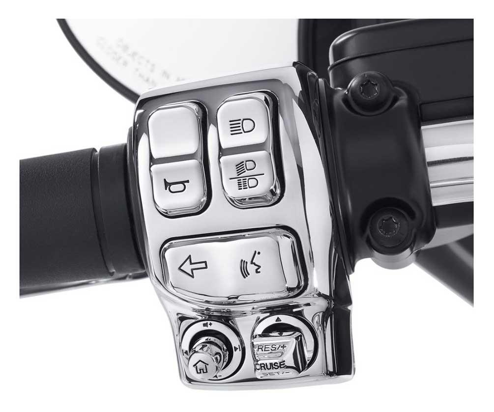 Harley-Davidson® Switch Cap Kit, Fits Glide Models, Chrome Finish 71500187