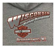 b478a0081 Harley-Davidson Men's Screamin' Eagle Hooded Pullover Sweatshirt, Oxford  Gray - Wisconsin Harley
