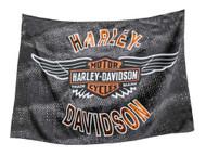 Harley-Davidson Vintage Bar & Shield Wings Estate Flag, Double Sided 17S4918 - Wisconsin Harley-Davidson