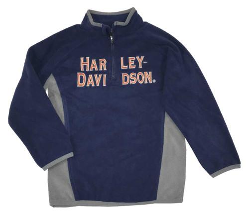 Harley-Davidson Boy Toddler's Embroidered Polar Fleece 1/2 Zip Jacket 6574521 - Wisconsin Harley-Davidson