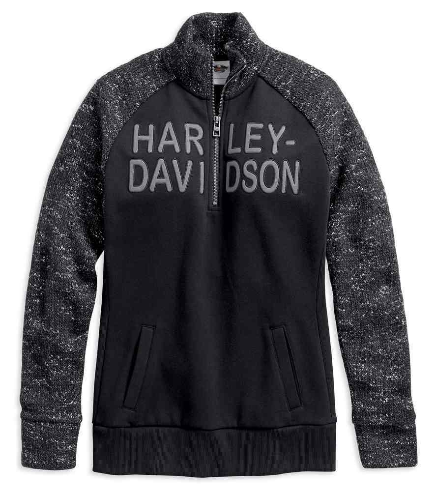 007b278360 Harley-Davidson Women s Applique Graphic 1 4-Zip Fleece Pullover  96065-18VW. Click to enlarge