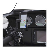 Ciro Smart Phone/GPS Perch Mount Holder without Charger, Chrome or Black - Wisconsin Harley-Davidson