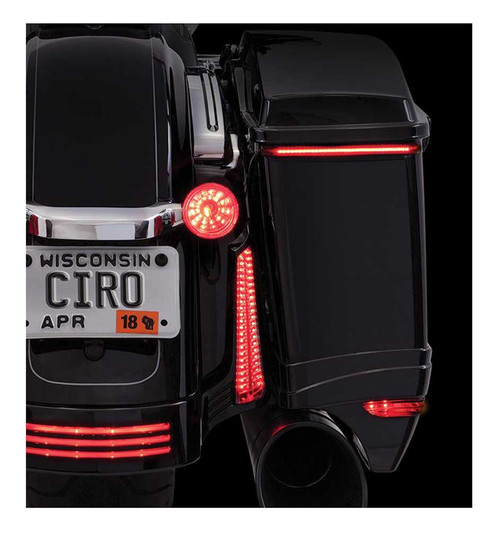 Ciro Bag Blades Low Profile LED Lights '14-up Harley w/ Controller, Amber 40008 - Wisconsin Harley-Davidson