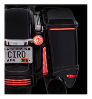 Ciro Bag Blades LED Lights, Fits '97-'13 Harley FLHT & FLTR Models, Amber 40028 - Wisconsin Harley-Davidson
