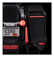Ciro Bag Blades LED Lights, Fits '10-'13 Harley FLHX & FLTRX Models, Amber 40029 - Wisconsin Harley-Davidson