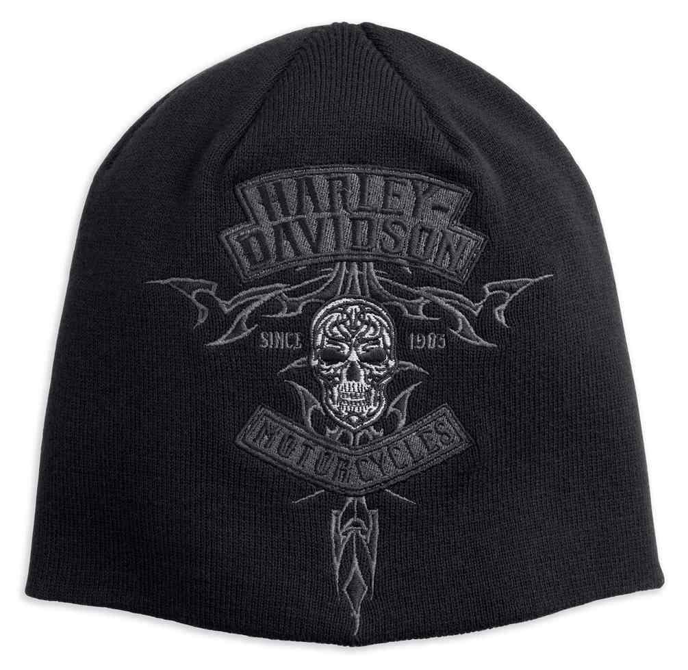 865dc708fc6 Harley-Davidson® Men s Embroidered Skull Knit Beanie Hat