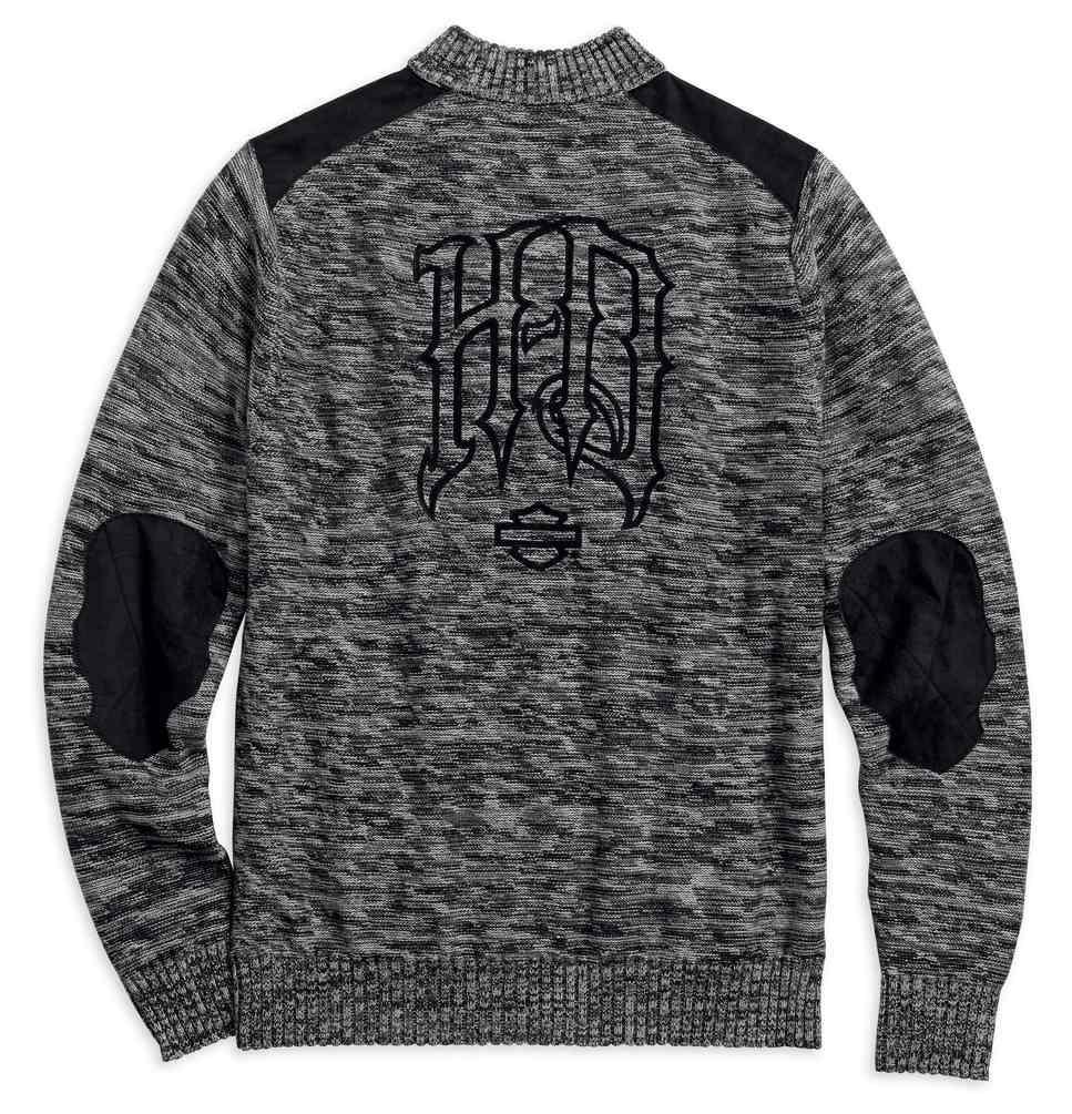136a5b3d34 Harley-Davidson® Men's Wool Blend 1/4-Zip Sweater, Charcoal Heather  96493-18VM