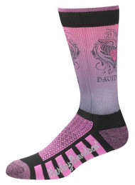 Harley-Davidson Womens Cushioned Wool Ride Socks, Pink D89098570-651 - Wisconsin Harley-Davidson