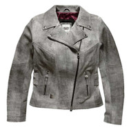 Harley-Davidson Women's Pierce 3-IN-1 Leather Biker Jacket, Gray 97001-18VW - Wisconsin Harley-Davidson