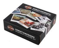 Harley-Davidson Snapshot Wooden Cork Back Coaster Set, 8 Pack HDL-18577 - Wisconsin Harley-Davidson