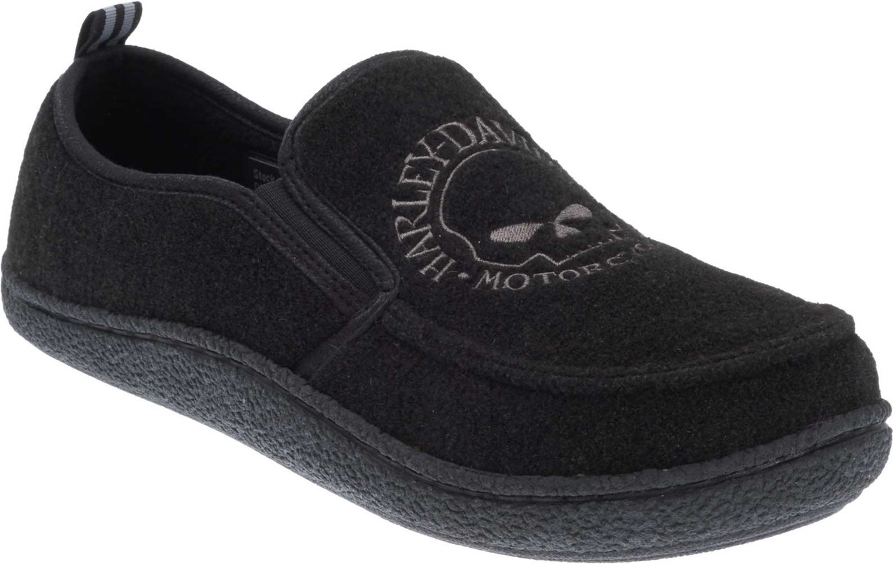 c712e76318c1d7 Harley-Davidson Men s Caleb Black Fleece Lined House Slippers. D93395 -  Largest Selection of. See 3 more pictures