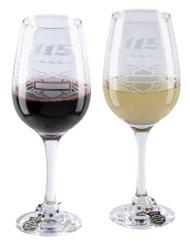 Harley-Davidson 115th Anniversary Wine Glass Set, Set of 14oz. Glasses HDX-98702 - Wisconsin Harley-Davidson