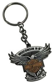Harley-Davidson 115th Anniversary Wisconsin HD Keychain - Limited Edition 290083 - Wisconsin Harley-Davidson