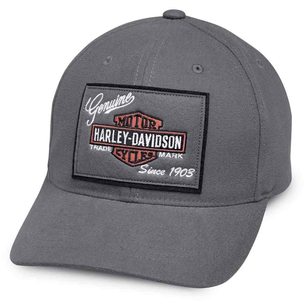 a64a5ece6 Harley-Davidson Men's Genuine Logo Patch Baseball Cap, Gray 99435-18VM -  Wisconsin