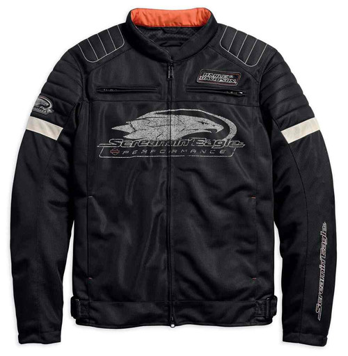 Harley-Davidson Men's Screamin' Eagle Mesh Riding Jacket, Black 98161-18VM - Wisconsin Harley-Davidson