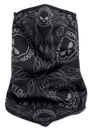 Harley-Davidson Skull Wind Resistant Facemask Bandana, Black 98187-18VX - Wisconsin Harley-Davidson